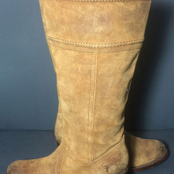 Frye 77222 Jane 14L Brown Leather Riding Boots Women's Size 9