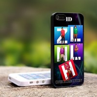 One Direction 1D Boy Band - For iPhone 4,4S Black Case Cover