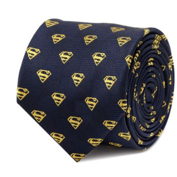 Superman Shield Navy Tie BY DC COMICS