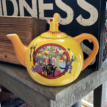 Yellow Submarine Tea Pot