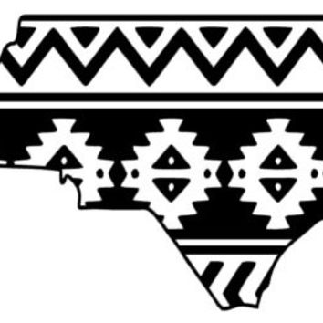 Aztec/Tribal North Carolina Decal Aztec Car Window Decal Tribal Car Decal