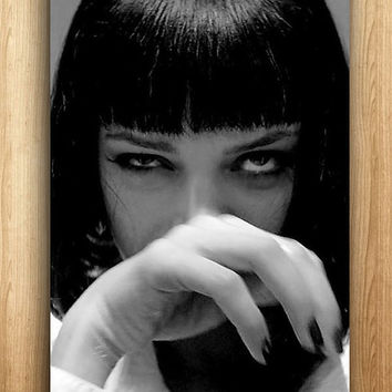 Mia Wallace Pulp Fiction Canvas Art Print A1 A2 A3 A4