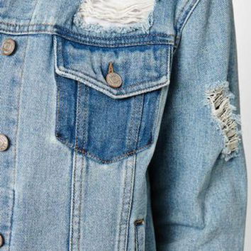 CREYON PacSun Light Destructed Jacket
