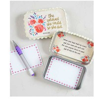 Natural Life Prayer Box - She Believed