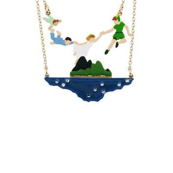 N2 by Les Néréides FLY WITH ME PETER AND CHILDREN SHORT NECKLACE