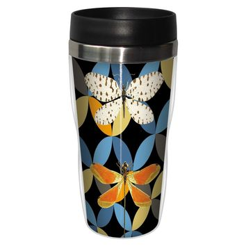 Bright Dragonflies Travel Mug - Premium 16 oz Stainless Lined w/ No Spill Lid