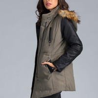 Stone Cold Cinched Hooded Jacket