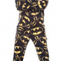 BATMAN 01 - Warner Brothers - Pajamas Footie PJs Onesuits One Piece Adult Pajamas - JumpinJammerz.com
