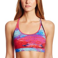 Reebok Women's Fitness Medium Glitch Short Bra Top