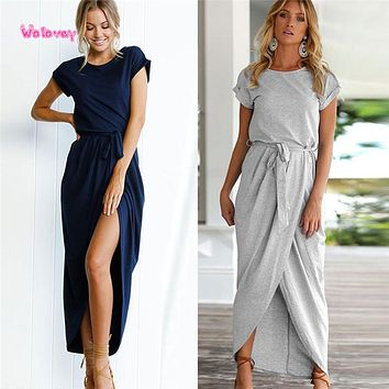 New Style Women Boho Long Maxi Dress Party Beach Dresses Sundress Fashion Hot Simple Style Modest Personality Wolovey#15