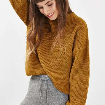 Travelling Rib Blouson Jumper - Knitwear - Clothing
