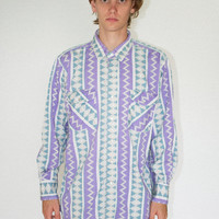 Vintage Pastel Western Button Up Shirt