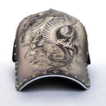 Chinese Style Oil Painting Baseball Cap