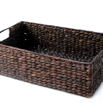 Amanda water hyacinth shelf baskets, Large