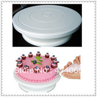 "Free shipping  Pro 11"" Rotating Revolving Cake Sugarcraft Turntable Decorating Stand Platform"
