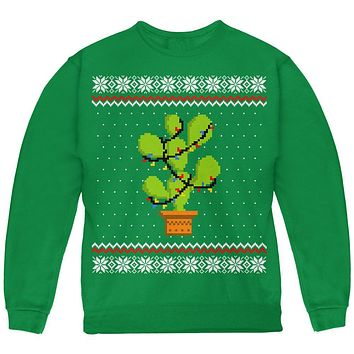 Cactus Prickly Pear Tree Ugly Christmas Sweater Youth Sweatshirt