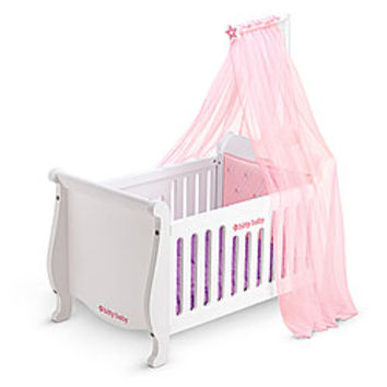 American Girl® Furniture: Sweet Dreams Wooden Crib & Canopy