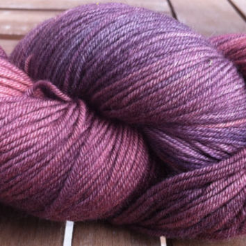 Burgundy & Purples - Hand Dyed Australian Superfine Merino (19.5 microns) 4 ply Fingering Weigh Yarn 100gr