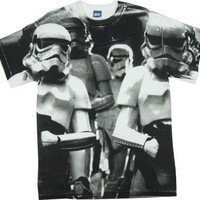 Storm Troopers All Over - Star Wars T-shirt: Adult XL - White