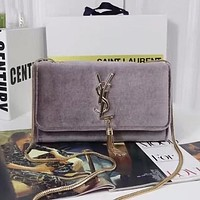 YSL Women Fashion Leather Chain Satchel Crossbody Shoulder Bag