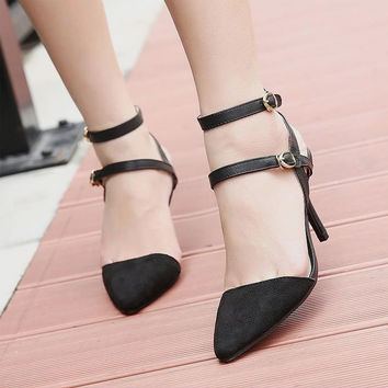 Fashion Shoes Lady Micro Valley High-Heeled Shoes With A Fine Sexy Fashion Occupation Qianson Paragraph Yi To Together