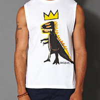 T-Rex Basquiat Muscle Tee White