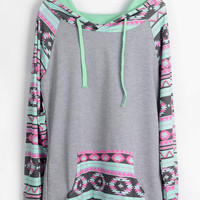 Cupshe Hold Your Own Ethnic Hooded Sweatshirt