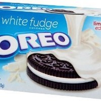 Nabisco, Oreo, White Fudge Covered Oreos, Limited Edition, 8.5oz Box (Pack of 4)