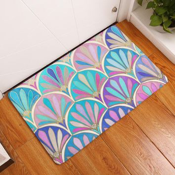 Autumn Fall welcome door mat doormat MDCT Stained Glass Design Rainbow Decorative Floor Rugs Mats Kitchen Bathroom Toilet Living Room s Floormats Area Carpet AT_76_7