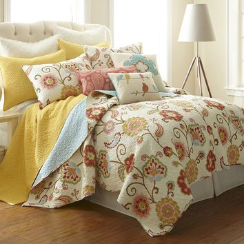 Ashbury Spring 3-pc. Reversible Quilt Set - King (White)