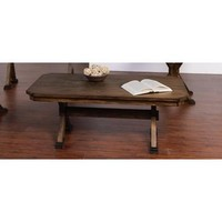 Sunny Designs 3237AC-C Savannah Coffee Table In Antique Charcoal
