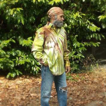 OOAK Tie Dye Button Up Shirt