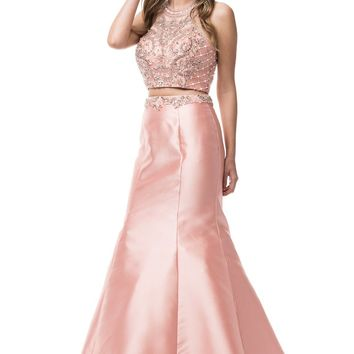 Sexy 2 piece long prom dress  BC-cp6013