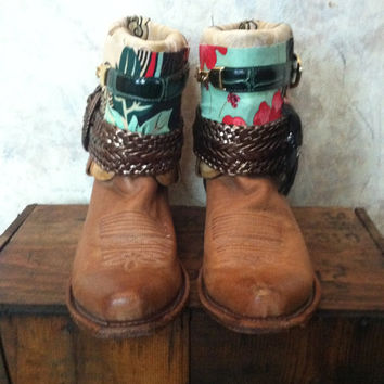 Upcycled Western Cowboy Boots Women's Size 9