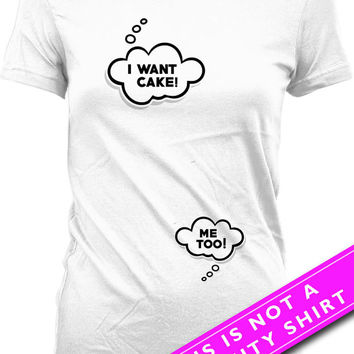 Funny Pregnancy Shirt Maternity Clothing Gifts For Expecting Mothers I Want Cake Baby Shower Gift Pregnancy Tops Ladies Tee MAT-548