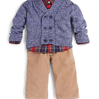 Nautica Baby Boys Shirt Cardigan and Pants Set
