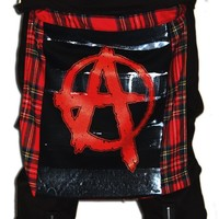 Bumflap Clip On- Anarchy Tartan :: VampireFreaks Store :: Gothic Clothing, Cyber-goth, punk, metal, alternative, rave, freak fashions