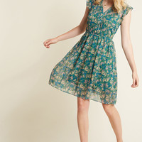 Expert in Your Zeal A-Line Dress in Butterflies