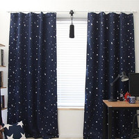 Black Out Star Curtains