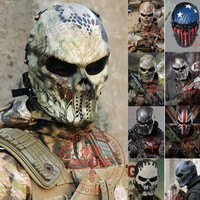 Typhoon Camouflage Hunting Masks Ghost Tactical Outdoor Military CS Wargame Paintball Motorcycle Airsoft Skull Full Face Mask