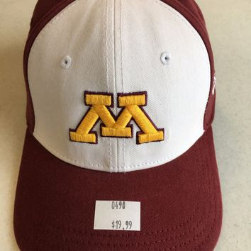 MINNESOTA GOPHERS NCAA NEW ERA MAROON W/ WHITE FRONT FITTED HAT SHIPPING