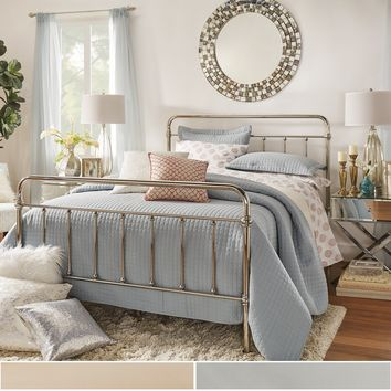 INSPIRE Q Giselle Graceful Lines Victorian Chrome Metal Bed | Overstock.com Shopping - The Best Deals on Beds