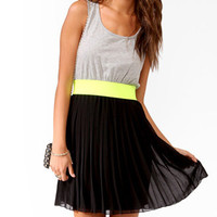 Neon Trimmed Combo Dress