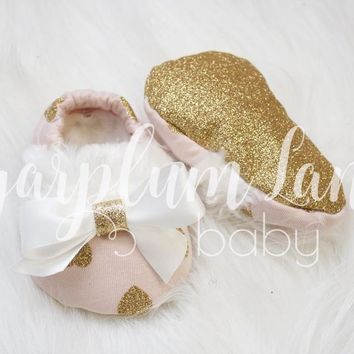 Glitter Heart Baby Shoes