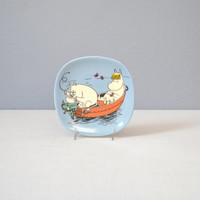 Vintage Arabia of Finland Porcelain Moomin Plate - Engine Problems