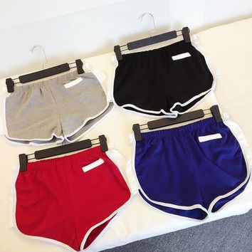 Loose Casual Split Sports Pants Shorts