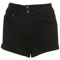 MOTO Black High Waisted Shorts