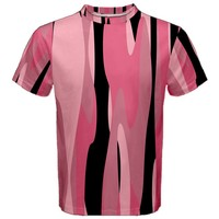 Black and pink Camo abstract Men's Sport Mesh Tee