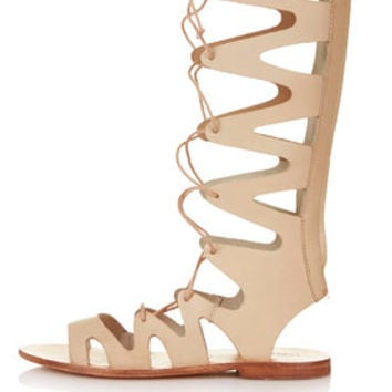 FIGTREE Gladiator Sandals - Nude