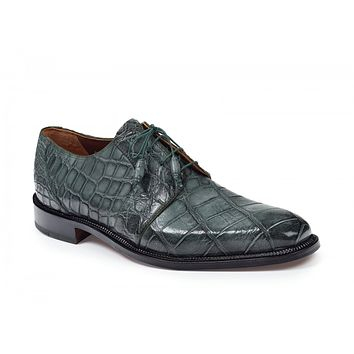 Mauri - 1003 Massari Alligator Shoes Olive